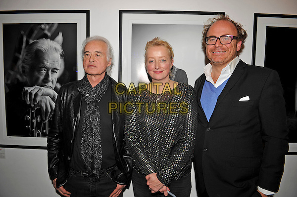 LONDON, ENGLAND - NOVEMBER 25: Jimmy Page, Scarlet Page and Alex Proud attending the 'Resonators' book launch at Proud Gallery, Camden on November 25, 2015 in London, England.<br /> CAP/MAR<br /> &copy; Martin Harris/Capital Pictures