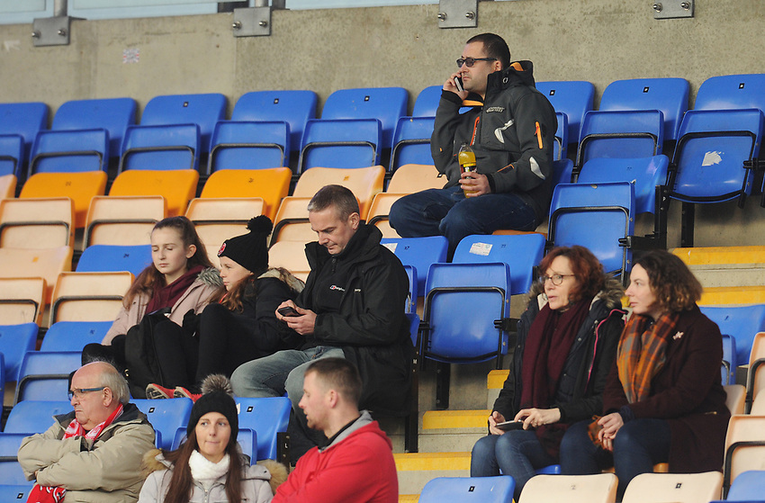 Fleetwood Town fans enjoy the pre-match atmosphere <br /> <br /> Photographer Kevin Barnes/CameraSport<br /> <br /> The EFL Sky Bet League One - Shrewsbury Town v Fleetwood Town - Tuesday 1st January 2019 - New Meadow - Shrewsbury<br /> <br /> World Copyright © 2019 CameraSport. All rights reserved. 43 Linden Ave. Countesthorpe. Leicester. England. LE8 5PG - Tel: +44 (0) 116 277 4147 - admin@camerasport.com - www.camerasport.com