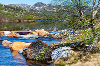 Norway, Sirdal. Spring time in the Mountains. Instestøl.