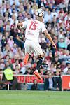 Sevilla's Steven N'Zonzi during La Liga match between Atletico de Madrid and Sevilla CF at Vicente Calderon Stadium in Madrid, Spain. March 19, 2017. (ALTERPHOTOS/BorjaB.Hojas)