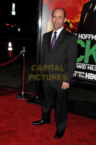 "Gary Stevens.HBO's ""Luck"" Los Angeles Premiere held at Grauman's Chinese Theatre, Hollywood, California, USA..January 25th, 2012.full length black suit purple tie .CAP/ADM/BP.©Byron Purvis/AdMedia/Capital Pictures."
