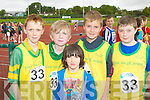 Sean Mangan, Sean Collins, Cierán Mangan, John Walsh and Matthew O'Connor Knocknagoshel who competed in the Denny Kerry Community Games finals in Castleisland on Saturday