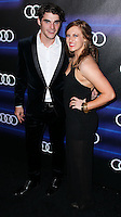 WEST HOLLYWOOD, CA, USA - AUGUST 21: RJ Mitte, Carly Rose at the Audi Emmy Week Celebration 2014 held at Cecconi's Restaurant on August 21, 2014 in West Hollywood, California, United States. (Photo by Xavier Collin/Celebrity Monitor)