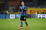 Christian Eriksen of Inter applauds fans after the final whistle of the Coppa Italia match at Giuseppe Meazza, Milan. Picture date: 12th February 2020. Picture credit should read: Jonathan Moscrop/Sportimage