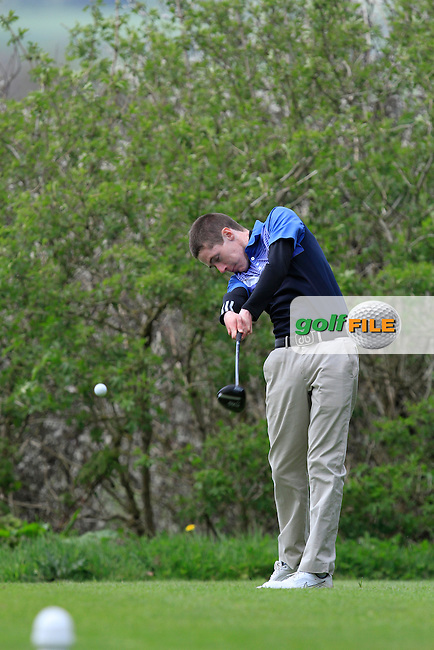 John Molyneaux (Ballybunion) on the 15th tee during Day 1 of The Munster Youths' Amateur Open Championship in Dungarvan Golf Club on Wednesday 23nd April 2014.<br /> Picture:  Thos Caffrey / www.golffile.ie