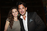 Alicia Minshew and Ricky Paull Goldin host All My Children's Good Night Pine Valley was held on September 17, 2011 at Prohibition, New York City, New York.  (Photo by Sue Coflin/Max Photos)