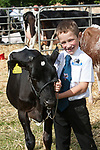 CR0002852 Kinross Show. Young Handler Ruaridh Lawson, 7 with 1st, Calf Born This Year, Lismulligain Bertha, British Fresian Calf. 11 Aug 2018 © Copyright photograph by Tina Norris. Contact Tina on 07775 593 830 info@tinanorris.co.uk All print sales via Tina Norris. www.tinanorris.co.uk http://tinanorris.photoshelter.com