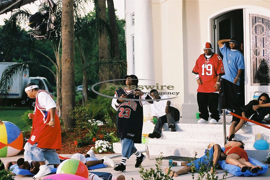 "Lil Wayne shooting ""Way of Life"" video in New Orleans on April 14, 2002.  Photo credit:  Presswire News/Elgin Edmonds"