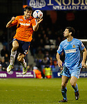 Picture by David Horn/eXtreme Aperture Photography +44 7545 970036<br /> 26/11/2013<br /> Jonathan Smith of Luton Town (left) during the Skrill Premier match at Kenilworth Road, Luton.
