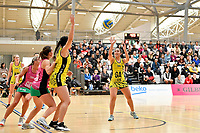 Central Manawa&rsquo;s Monalisa Groom in action during the Beko Netball League - Central Manawa v Southern Blast at ASB Sports Centre, Wellington, New Zealand on Sunday 12 May 2019. <br /> Photo by Masanori Udagawa. <br /> www.photowellington.photoshelter.com