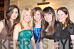 GLAM: Looking glamorous at the Fossa GAA social in the Killarney Avenue Hotel on Saturday night was l-r: Jennifer Coffey, Amy Moriarty, Ciara Coffey, Sophie Daly and Clodagh Coffey.   Copyright Kerry's Eye 2008