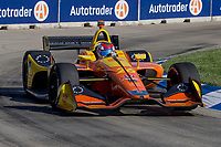 Zach Veach, #26 Honda, action, Detroit Grand Prix, IndyCar race, Belle Isle, Detroit, MI, June 2018.(Photo by Brian Cleary/bcpix.com)