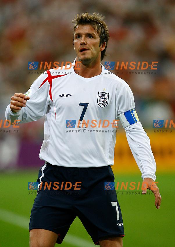 Gelsenkirchen 1/7/2006 World Cup 2006 Quarti di finale Inghilterra Portogallo 1-3 a.p..Photo Andrea Staccioli Insidefoto.David Beckham Inghilterra
