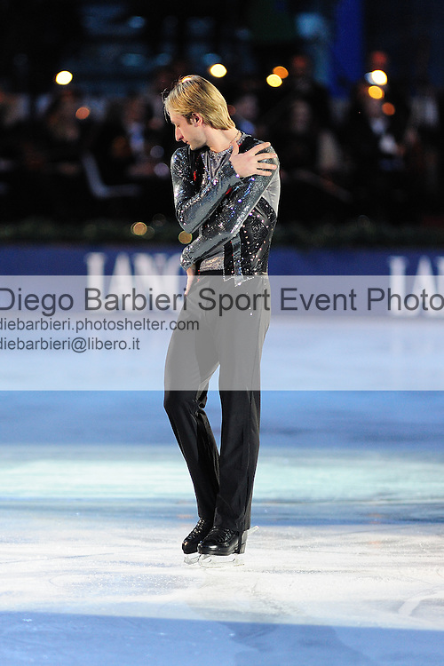 2012.01.01 Evgeny Plushenko exhibits at Capodanno on Ice, ice figure skating gala at Palavela in Turin, Italy<br />