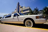 Miami beach road or Ocean Boulevard in Florida, USA