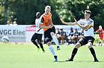 2018-07-14 / Voetbal / Seizoen 2018-2019 / KV Mechelen - Deinze / Michael Lallemand (l. Deinze) met Hannes Smolders<br /> <br /> ,Foto: Mpics