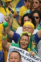 Em Belém, milhares de pessoas se reuniram neste domingo (15), em manifestações contra o governo de Dilma Rousseff. Segundo estimativa da Polícia Militar, 30 mil pessoas participam dos atos, que seguiram rumo à Avenida Visconde de Souza Franco, centro de Belém, até o Theatro da Paz. Os organizadores afirmam que 60 mil pessoas participaram. De acordo com a PM, o protesto é pacífico e nenhuma ocorrência de tumulto foi registrada. A passeata terminou por volta de 12h30.<br /> Belém, Pará, Brasil.<br /> Foto: Ney Marcondes<br /> 15/03/2015.