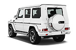 Car pictures of rear three quarter view of 2016 Mercedes Benz G-Class G550 5 Door SUV Angular Rear
