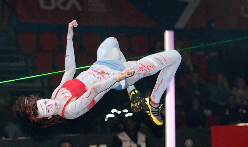 Photo: Richard Lane/Richard Lane Photography. Aviva Grand Prix. 20/02/2010. Extreme High Jump.