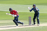 Daniel Lawrence in batting action for Essex as Sam Billings looks on from behind the stumps during Essex Eagles vs Kent Spitfires, Royal London One-Day Cup Cricket at The Cloudfm County Ground on 6th June 2018