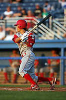 August 3rd 2008:  Shortstop Troy Hanzawa of the Williamsport Crosscutters, Class-A affiliate of the Philadelphia Phillies, during a game at Dwyer Stadium in Batavia, NY.  Photo by:  Mike Janes/Four Seam Images