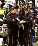 Raiders head coach Bill Callahan on Sunday, November 30, 2003, in Oakland, California. The Broncos defeated the Raiders 22-8.