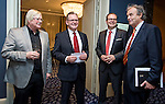 "BRUSSELS - BELGIUM - 24 March 2015 -- BOGK - German Association of the Fruit, Vegetable and Potato Processing Industry - Award ceremony ""Ambassador of Good Taste"". -- Konnrad LINKENHEIL, President of BOGK; Werner KOCH, Managing Director BOGK Bonn and Brussels offices. -- Photo: Juha ROININEN / EUP-IMAGES"