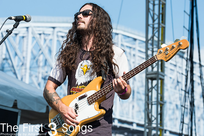 Logan Davis of J Roddy Walston and The Business performs at the 2014 Bunbury Music Festival in Cincinnati, Ohio