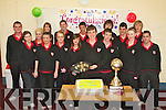 DANCING CHAMPION: John Fitzgerald, Brandon who won the An Collmisiu?n Le Ringi? Gaelacha World Championship in Glasgow at the Easter weekend receiving a hero's welcome from his classmates at Mea?n Scoil Nua An Leith Triuigh, Castlegregory on Friday pictured John Fitzgerald, Jacqueline Wyles, Kieran Browne, Amy O'Donnell, Jayne Mulally, Nicole Flynn, Conor Moriarty, Josie Scanlon, Cormac O'Brien, Ronan Barry, Cian Maunsell, Brendan Russell, Kevin Dowd, Carole Walsh, Peter Searle and Ma?ire Hennessy.