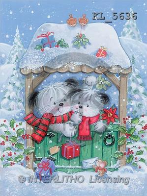 Interlitho, Arthur, CHRISTMAS ANIMALS, paintings, dog couple, mouse(KL5636,#XA#) Weihnachten, Navidad, illustrations, pinturas