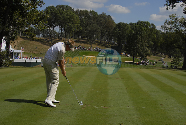 European Team member Ian Poulter tees off on the 14th tee box during Practice Day1 of the 37th Ryder Cup at Valhalla Golf Club, Louisville, Kentucky, USA, 17th September 2008 (Photo by Eoin Clarke/GOLFFILE)