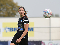 20181006 - DIKSMUIDE , BELGIUM : KRC Genk's Hanne Merkelbach pictured during a soccer match between the women teams of Famkes Westhoek Diksmuide Merkem and KRC GENK B  , during the 3th matchday in the 2018-2019  Eerste klasse - First Division season, Saturday 6 October 2018 . PHOTO SPORTPIX.BE | DIRK VUYLSTEKE