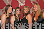 Girls from Tralee ITT at their annual Ball in the Ballyroe Heights hotel on Wednesday night last were L-R Geraldine Norton,Alva Neary,Evlin Flynn and Claudia Murphy, all Tralee     Copyright Kerry's Eye 2008