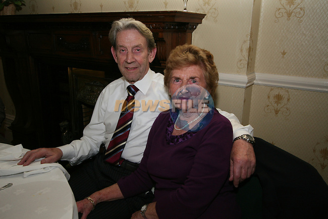 John and Ethel O'Neill at Ethel's 80th in the Boyne Valley Hotel...Photo NEWSFILE/Jenny Matthews.(Photo credit should read Jenny Matthews/NEWSFILE)....This Picture has been sent you under the condtions enclosed by:.Newsfile Ltd..The Studio,.Millmount Abbey,.Drogheda,.Co Meath..Ireland..Tel: +353(0)41-9871240.Fax: +353(0)41-9871260.GSM: +353(0)86-2500958.email: pictures@newsfile.ie.www.newsfile.ie.FTP: 193.120.102.198.