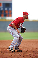 Cincinnati Reds Brantley Bell (16) during an instructional league game against the Cleveland Indians on October 17, 2015 at the Goodyear Ballpark Complex in Goodyear, Arizona.  (Mike Janes/Four Seam Images)