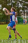 Annascaul Eamon Hickson and An Ghaeltacht Cian Ó Murchú in an action during the County Senior Football League Div. 3 match at Annascaul GAA Grounds on Sunday afternoon.