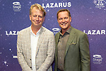 Premiere musical  David Bowie's Lazarus in DeLaMar, Amsterdam.<br /> <br /> Op de foto:  Albert Verlinde en Andreas Fleischmann , de nieuwe directeur van DeLaMar