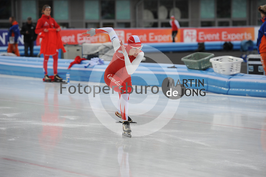 SCHAATSEN: AMSTERDAM: Olympisch Stadion, 01-03-2014, KPN NK Sprint/Allround, Coolste Baan van Nederland, Marrit Leenstra, ©foto Martin de Jong