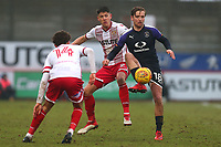 Luke Berry of Luton Town and Alex Revell of Stevenage during Stevenage vs Luton Town, Sky Bet EFL League 2 Football at the Lamex Stadium on 10th February 2018