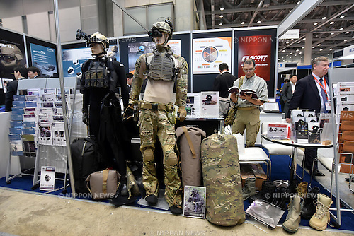 October 14, 2015, Tokyo, Japan - Security equipment and devices, systems and software of counter terrorism are showcased at the Special Equipment Exhibition and Conference for Anti-Terrorism in Tokyo on Wednesday, October 14, 2015. SEECAT is the only exhibition in Japan focusing on counter-terrorism.  (Photo by Natsuki Sakai/AFLO)