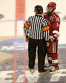 Geoff Miller, Alexander Kerfoot (Harvard - 14) - The University of Minnesota Duluth Bulldogs defeated the Harvard University Crimson 2-1 in their Frozen Four semi-final on April 6, 2017, at the United Center in Chicago, Illinois.