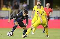 San Jose, CA - Saturday August 05, 2017: Nick Lima during a Major League Soccer (MLS) match between the San Jose Earthquakes and the Columbus Crew at Avaya Stadium.