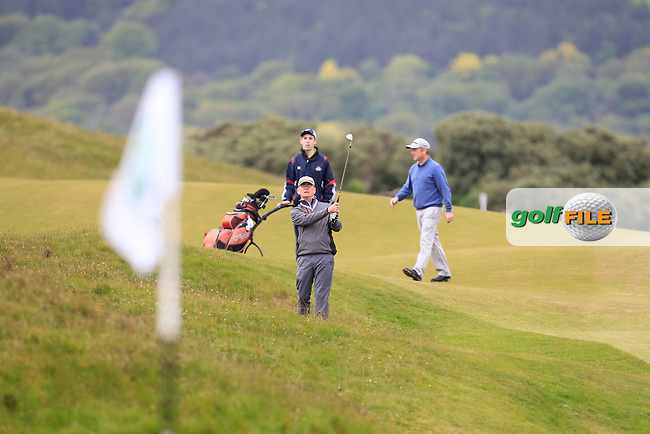 Playing with Tyrell Hatton (ENG) on the 1st during the Pro-Am of the 2015 Dubai Duty Free Irish Open, Royal County Down Golf Club, Newcastle Co Down, Northern Ireland. 27/05/2015<br /> Picture Thos Caffrey, www.golffile.ie