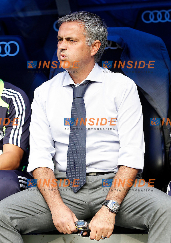 Real Madrid's coach Jose Mourinho during La Liga match.August 19,2012. (ALTERPHOTOS/Acero) .Madrid 19/8/2012 Stadio Santiago Bernabeu.Real Madrid Vs Valencia Liga 2012/2013.Foto Insidefoto