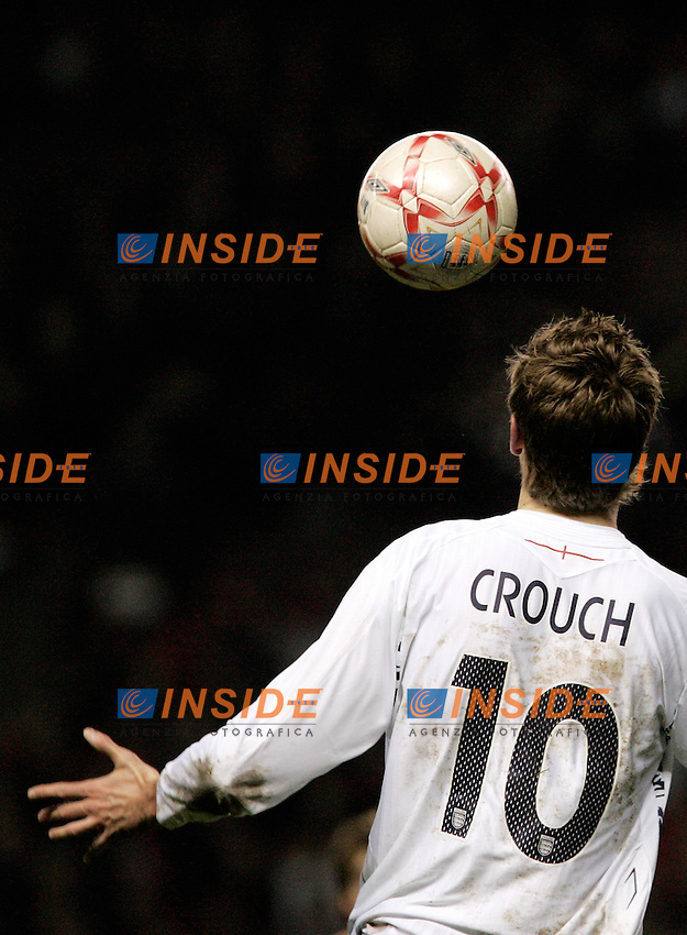 England's Peter Crouch during a friendly match at Old Trafford in Manchester, Wednesday February 07, 2007. (INSIDE/ALTERPHOTOS/Alvaro Hernandez).