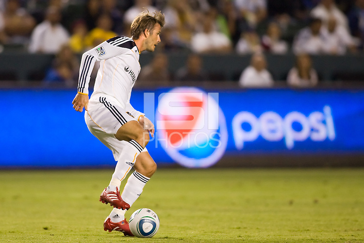 LA Galaxy midfielder David Beckham on the move. The New York Red Bulls beat the LA Galaxy 2-0 at Home Depot Center stadium in Carson, California on Friday September 24, 2010.