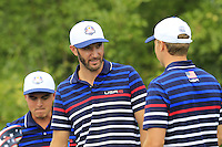 Dustin Johnson US Team on the 10th tee during Thursday's Practice Day of the 41st RyderCup held at Hazeltine National Golf Club, Chaska, Minnesota, USA. 29th September 2016.<br /> Picture: Eoin Clarke | Golffile<br /> <br /> <br /> All photos usage must carry mandatory copyright credit (&copy; Golffile | Eoin Clarke)