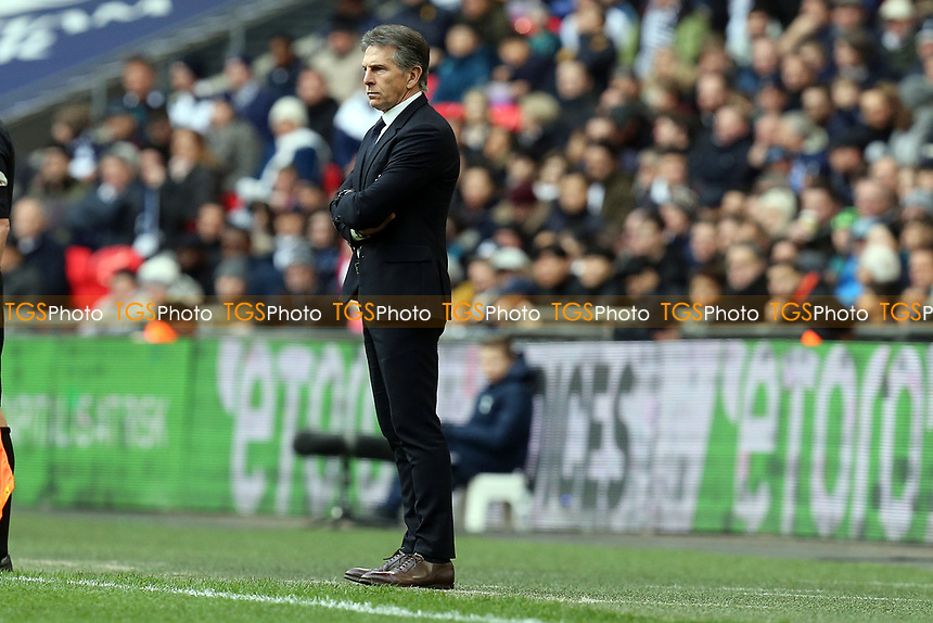 Leicester City manager Claude Puel during Tottenham Hotspur vs Leicester City, Premier League Football at Wembley Stadium on 10th February 2019