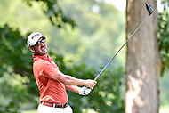 Bethesda, MD - July 1, 2018: Andrew Landry tee's off on the 8th hole during final round of professional play at the Quicken Loans National Tournament at TPC Potomac at Avenel Farm in Bethesda, MD.  (Photo by Phillip Peters/Media Images International)