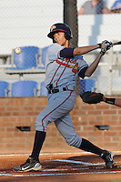 Danville Braves Andrelto Simmons at Howard Johnson Field in Johnson City, Tennessee July 6, 2010.   Johnson City won the game 6-5.  Photo By Tony Farlow/Four Seam Images